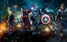 MARVEL AVENGERS CANVAS ART PICTURE LARGE 18 x 32 inch  READY TO HANG
