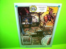 MAC Mac's Galaxy Mac Jungle Original Pinball Machine Promo Sales Flyer Spain