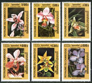 Cambodge 1889-1894, 1895 S/S, Mi 1965-1970, Bl.257, MNH Orchidées, 1999