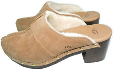 Ugg Australia  Kassi Clogs Chestnut Mules Shearling Fur Lined Boots  Bootie 7.5