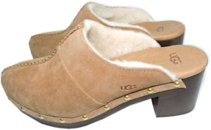 Ugg Australia  Kassi Clogs Chestnut Mules Shearling Fur Lined Boots  Bootie 7-38