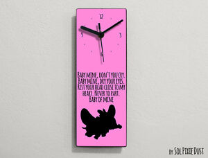 Dumbo - Baby mine, don't you cry.Baby mine, dry your eyes... - Wall Clock