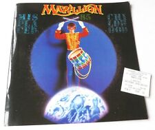 Marillion - Misplaced childhood 1985 TOUR PROGRAMMES AND CONCERT TICKET