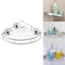 Storage Basket Caddy Shelf Suction Cup Stainless Steel Bathroom Shower Supplies