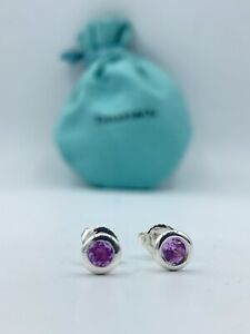 Tiffany & Co. Elsa Peretti Color by the Yard Amethyst Stud Earrings