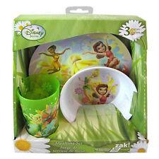 3pc Dining Feeding Gift Set Plate Bowl Tumbler Tinkerbell Fairies New