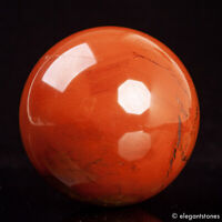 513g 71mm Large Natural Red Jasper Quartz Crystal Sphere Healing Ball Chakra