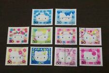 Japan 2004 G8 HELLO KITTY stamps 10v USED