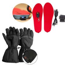 Motorcycle Hunting Warmer Gloves+Electric Heated Shoe Insoles Foot Ski Boot 2017
