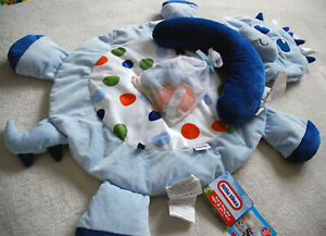 LITTLE TIKES 3In1 PLUSH DRAGON BABY PLAYMAT TUMMY TIME PILLOW SUPPORT ON THE GO