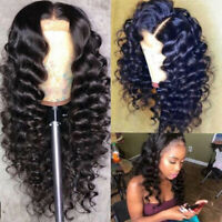 Loose Wave Lace Front Wigs 8A Malaysian Virgin Human Hair 13X6 Full Wig Black Zz