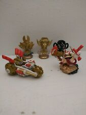 SKYLANDERS SUPERCHARGERS DOUBLE DARE TRIGGER HAPPY GOLD RUSHER & 3 trouphys