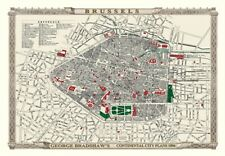 George Bradshaw'S CONTINENTAL Piano della città di Bruxelles 1896 - 1000 Pezzo Puzzle