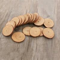 10pcs Natural Wood Slices Round Disc Tree Bark Log Wooden Circles for DIY Craft
