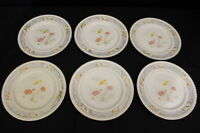 "Set of 6 Vintage Johnson Brothers Old English VIGO Indian Tree 10"" Dinner Plates"