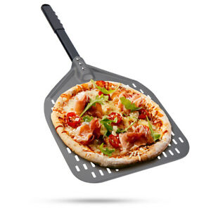 12 Inch Perforated Pizza Peel Shovel Anodized Aluminum Pizza Paddle Bakers Peel
