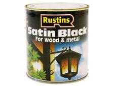 Rustins QUICK DRY BASE D'ACQUA Raso Nero per uso interno ed esterno