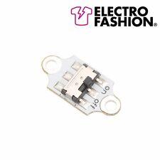2 x Electro Fashion Slide Button Switch E-Textiles Sewable Electronics Projects