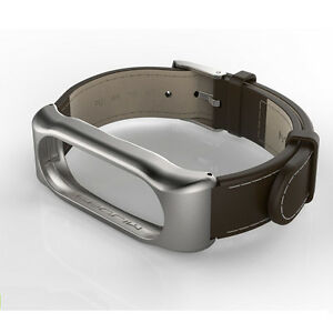 Brown PU Anti-lost Smart Wristband For Xiaomi Mi2 Band 2 Bracelet no Monitor