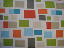 "Harlequin Scion Curtain Fabric Design ""blocks"" 4.6 M Chalk Neutral Lime Powd"