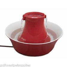 Drinkwell Avalon Ceramic Pet Drinking Water Fountain - Red