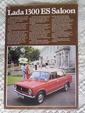 LADA 1300 ES SALOON orig 1977 1978 UK Mkt Sales Leaflet Brochure