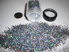 D00266  PREMIUM Grade 1/24 Flakes Glitter- Silver Laser