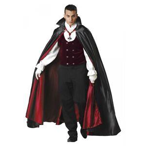 Vampire Costume Adult Victorian Count Dracula Halloween Fancy Dress