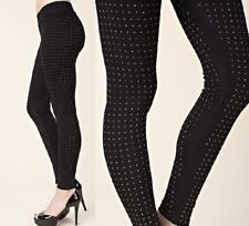 VOCAL Womens BLACK HOT CRYSTAL BLING STUDDED USA LEGGINGS PANTS S M L XL SEXY