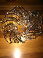 """Mikasa Germany Gorgeous Centerpiece Bowl 12.5"""" Crystal Glass Clear"""