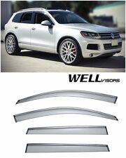 For 11-Up Volkswagen Touareg WellVisors Side Window Visors W/ Chrome Trim