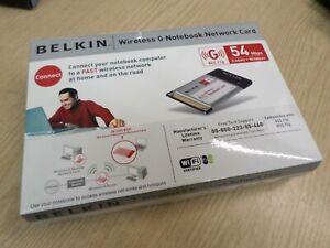 Belkin Wireless G Notebook Network Card