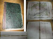 Antica SCOLASTICA ATLAS 1870 Stieler molti acciaio punture molto carte