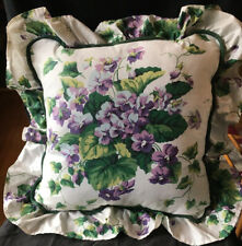 """Waverly Garden Room Sweet Violet Decorative Corded Pillow 22"""" Square 2 Available"""