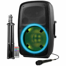 Ion Audio Total PA Plus Glow 2 High-Power 400W Bluetooth PA System with Lights
