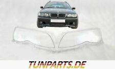 Scheinwerfer Glas für BMW e46 3er Facelift Streuscheiben Linsen Abdeckung