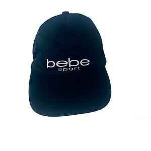 Bebe Sport Silver Sparkle Thread Black Nylon Mesh 6 Panel Women's Fashion Hat