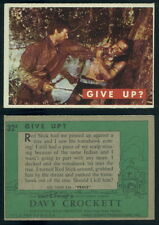 (53560) 1956 Topps 32A Davy Crockett Green Back Give Up-EX