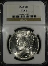 """1923 Peace Dollar """"NGC MS65"""" *Free S/H After 1st Item*"""