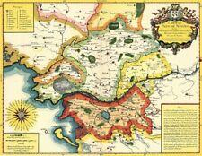 Reproduction carte ancienne - Pays de Nantes XVIIè