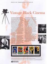 #819 42c Vintage Black Cinema #4336-#4340 USPS Commemorative Stamp Panel