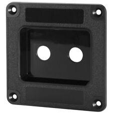 "Penn-Elcom M1500 Speaker Cabinet Double 1/4"" Jack Plate Black ABS"