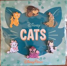 New Disney Cats Booster 6 Pin Set Marie Cheshire Figaro Lady Oliver Pins