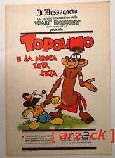 TOPOLINO supplemento IL MESSAGGERO Topolino e la mosca Zeta Zeta 23/6/90