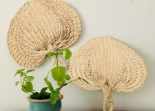 Set of 2 Large Raffia Fans - Great For Wall Art *Read Ad For Details*