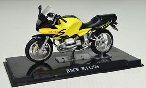 BMW R1100S Yellow scale 1:24 Motorcycle Model From Atlas Die-Cast
