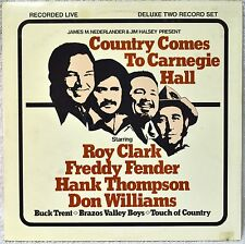 Country Comes to Carnegie Hall 2-LP Vinyl NM Roy Clark Freddy Fender DonWilliams