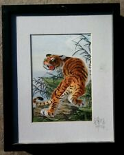 Bengal Tiger - Silk Embroidery Art - Signed By. Embroidery Wonders Artist
