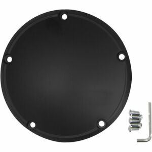 Drag Specialties Flat Black Derby Cover for 1999-2018 Harley Big Twin
