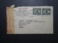 South Africa 1941 Censor Cover to USA (I) - Z12024
